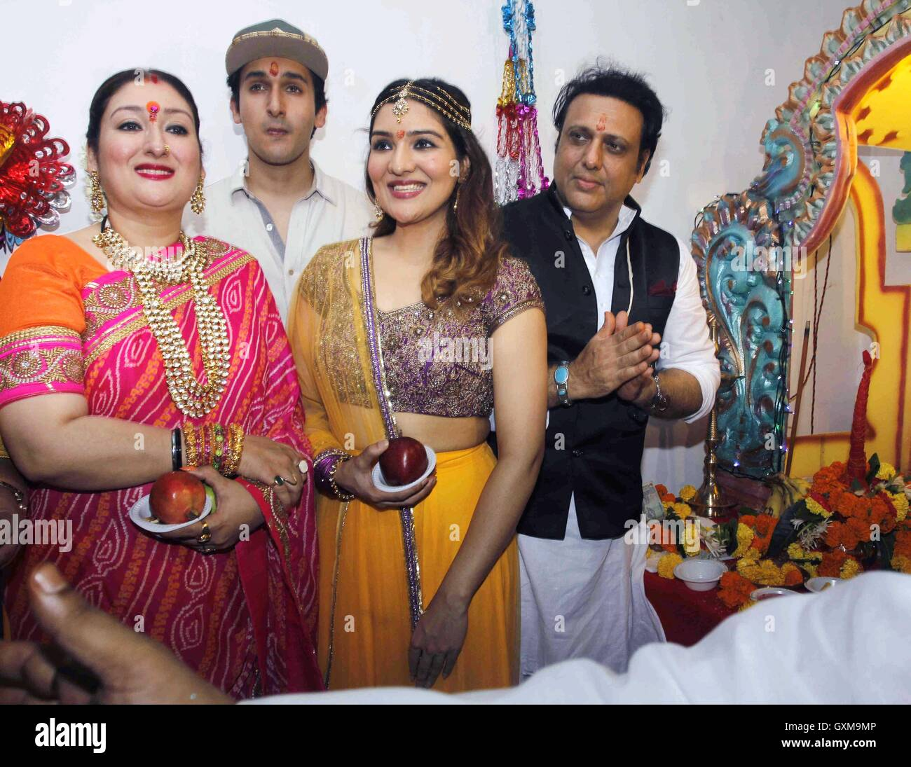 Govinda Marriage Photo With Sunita