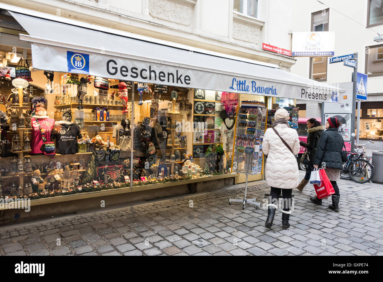 one of the many gift souvenir shops in and around munich shopping stock photo royalty free. Black Bedroom Furniture Sets. Home Design Ideas