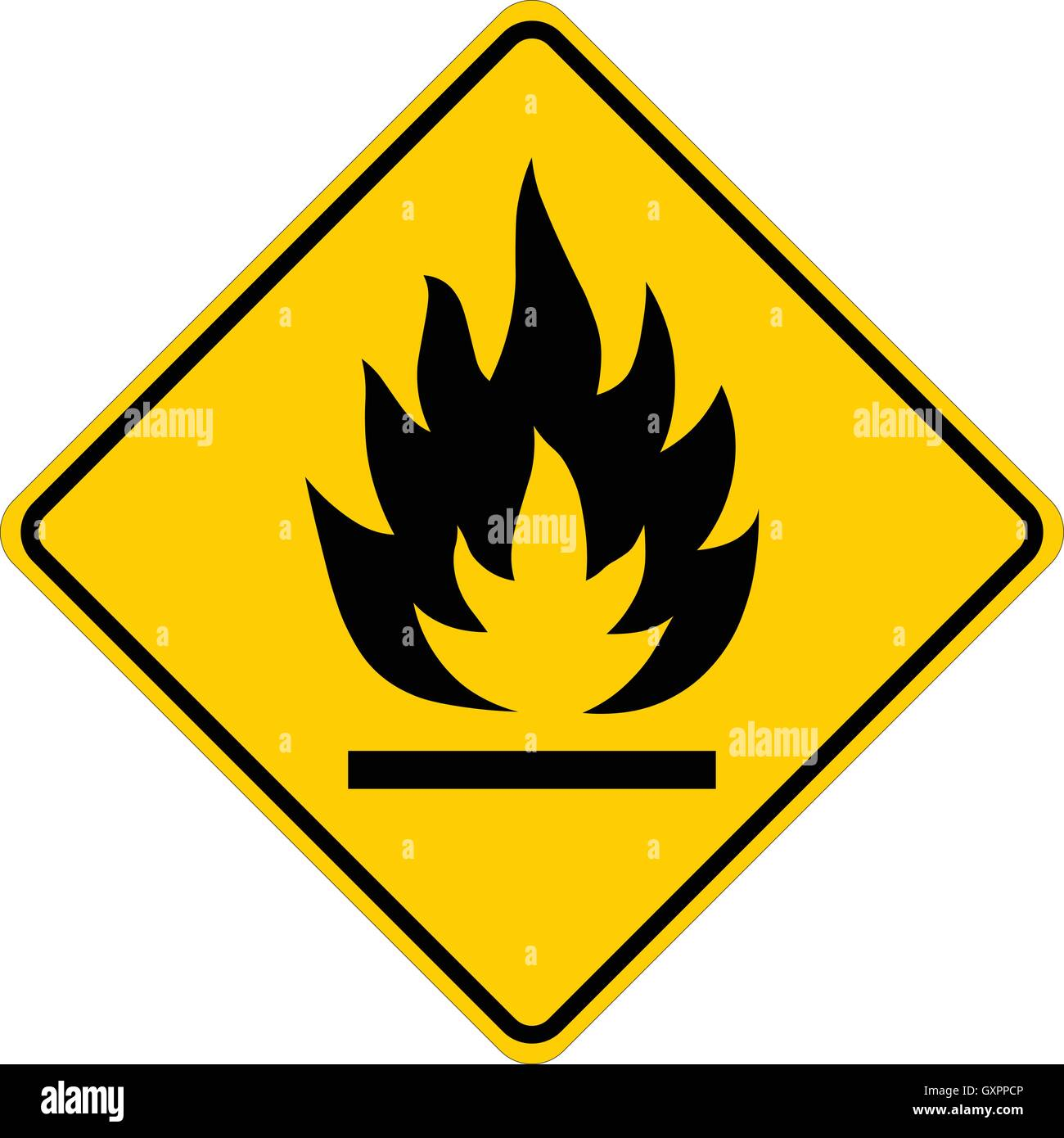 Flammable yellow square warning sign isolated vector illustration flammable yellow square warning sign isolated vector illustration buycottarizona