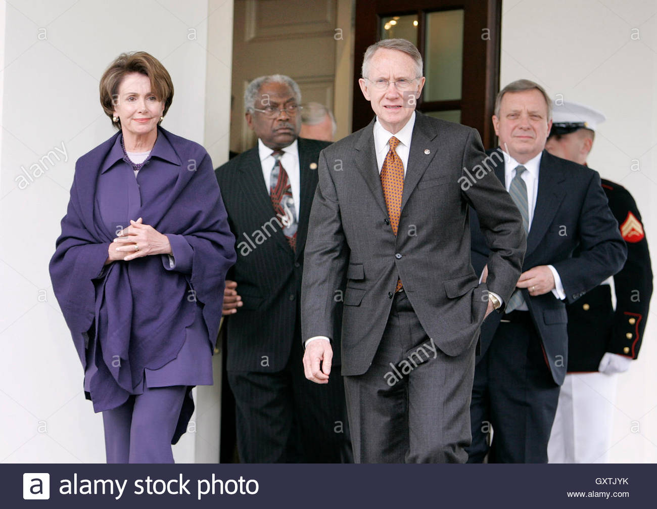 The Press Cabinet Democratic Congressional Leaders Walk Out To Speak To The Press