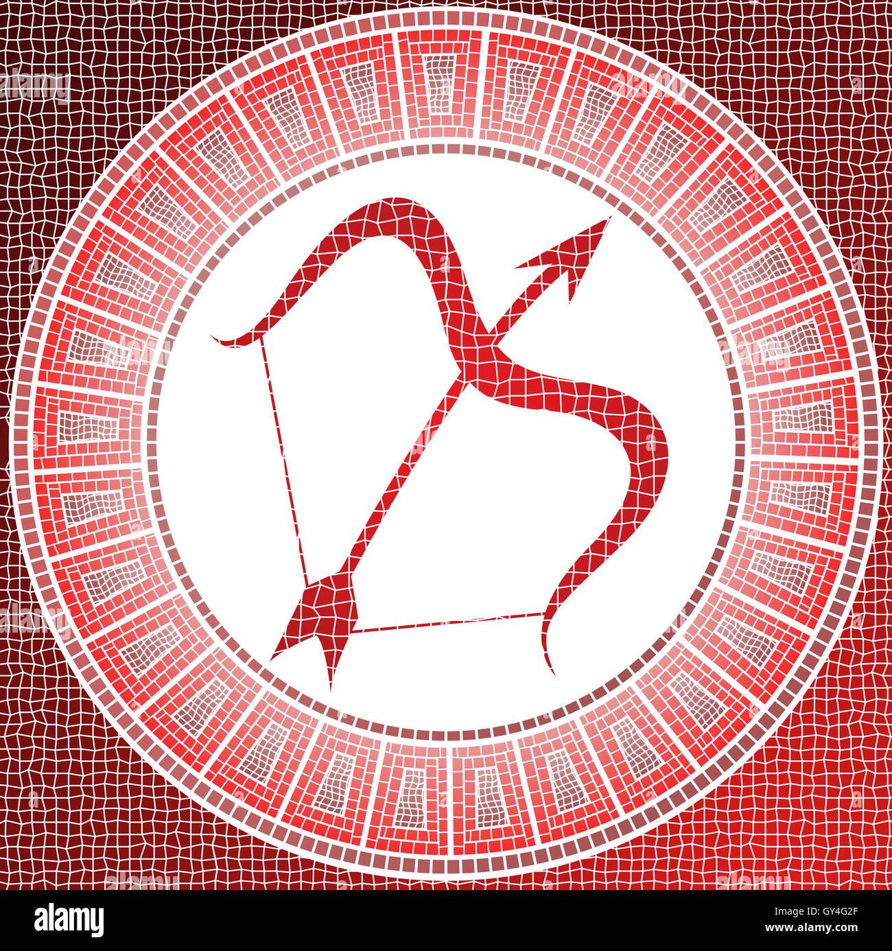 Element fire sagittarius zodiac sign on a mosaic stock photo element fire sagittarius zodiac sign on a mosaic biocorpaavc