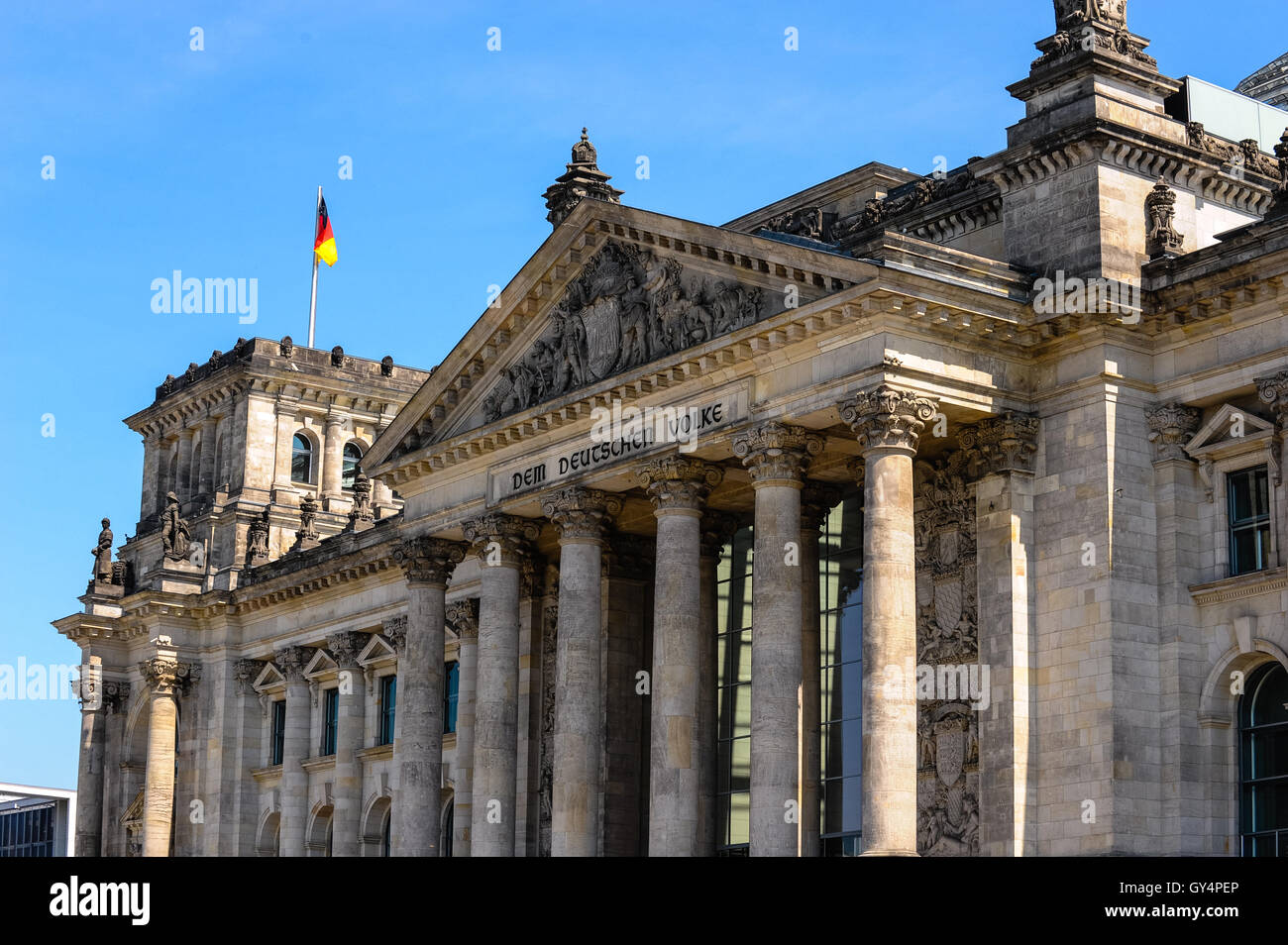 Berlin Germany The Reichstag Building Was Opened In 1894 And Closed 1933 After