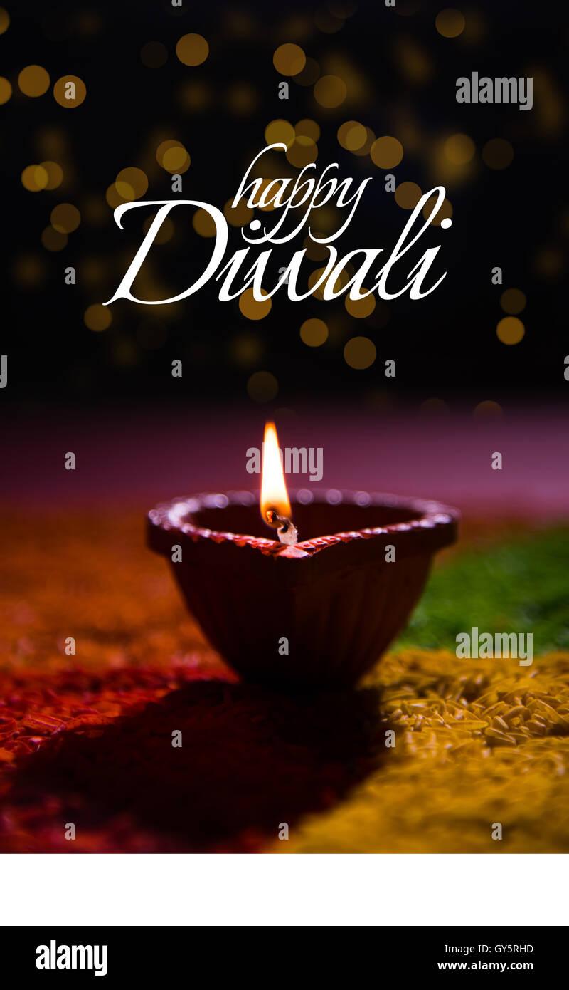 Happy diwali or happy deepavali greeting card made using a happy diwali or happy deepavali greeting card made using a photograph of diya or oil lamp kristyandbryce Gallery