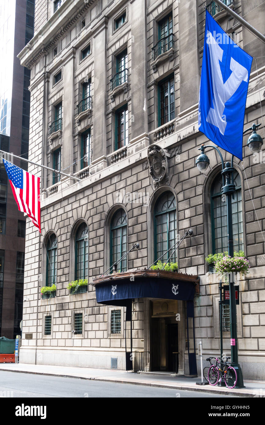 The Yale Club Of New York City Stock Photo, Royalty Free