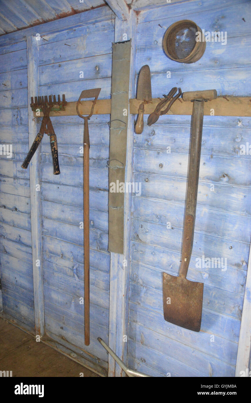 Garden Sheds Yorkshire garden sheds harrogate rusty gardening tools in wooden shed at rhs