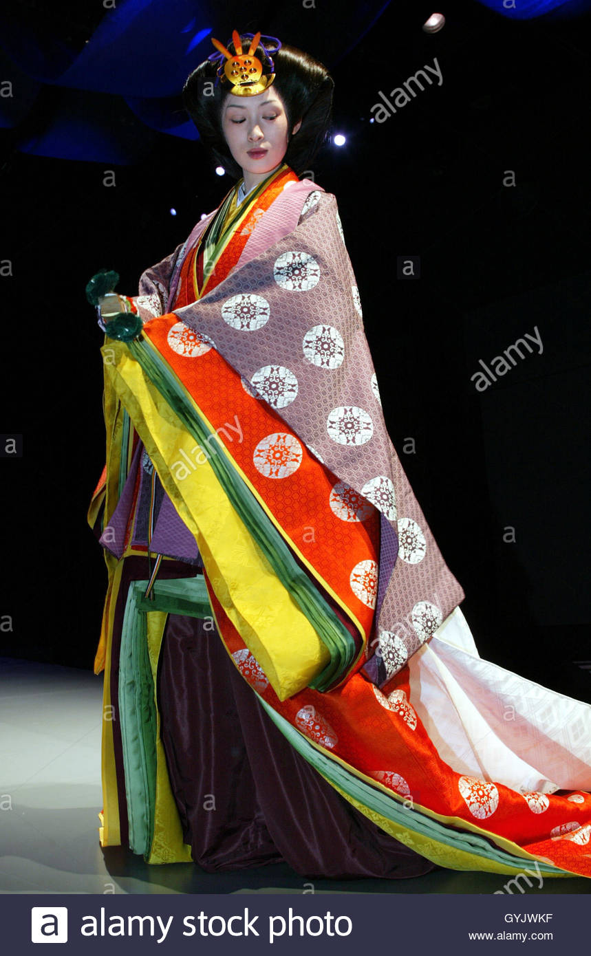 A model in an ancient Japanese formal court ensemble ...