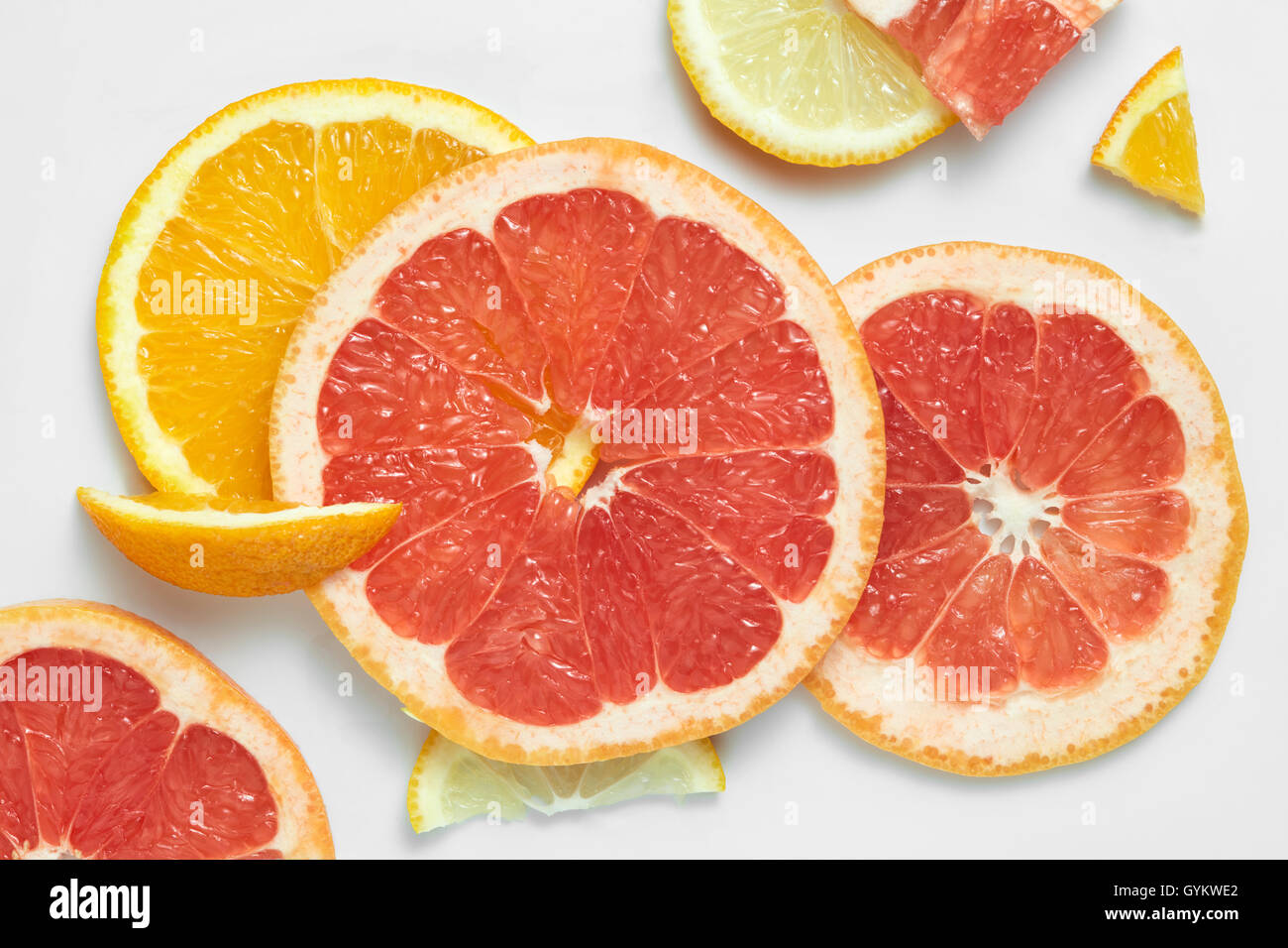 set of different fruits slices stock photo royalty free image