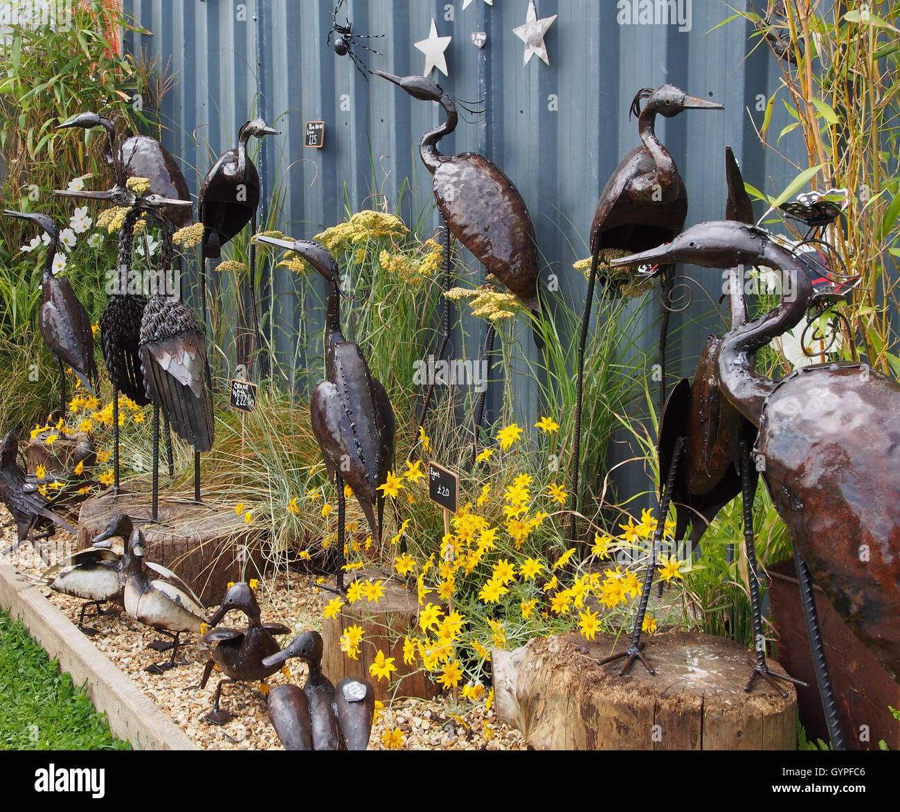 Exhibit Of Metal Garden Ornaments By Chi Africa At Tatton Park Flower Show  2016, In Knutsford, Cheshire, England.