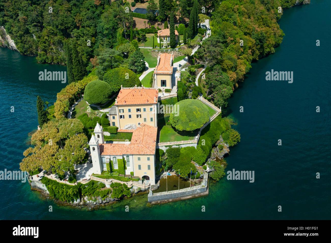 Super Italie, Lombardie, lac de Come, Lenno, villa Balbianello (vue  ME78