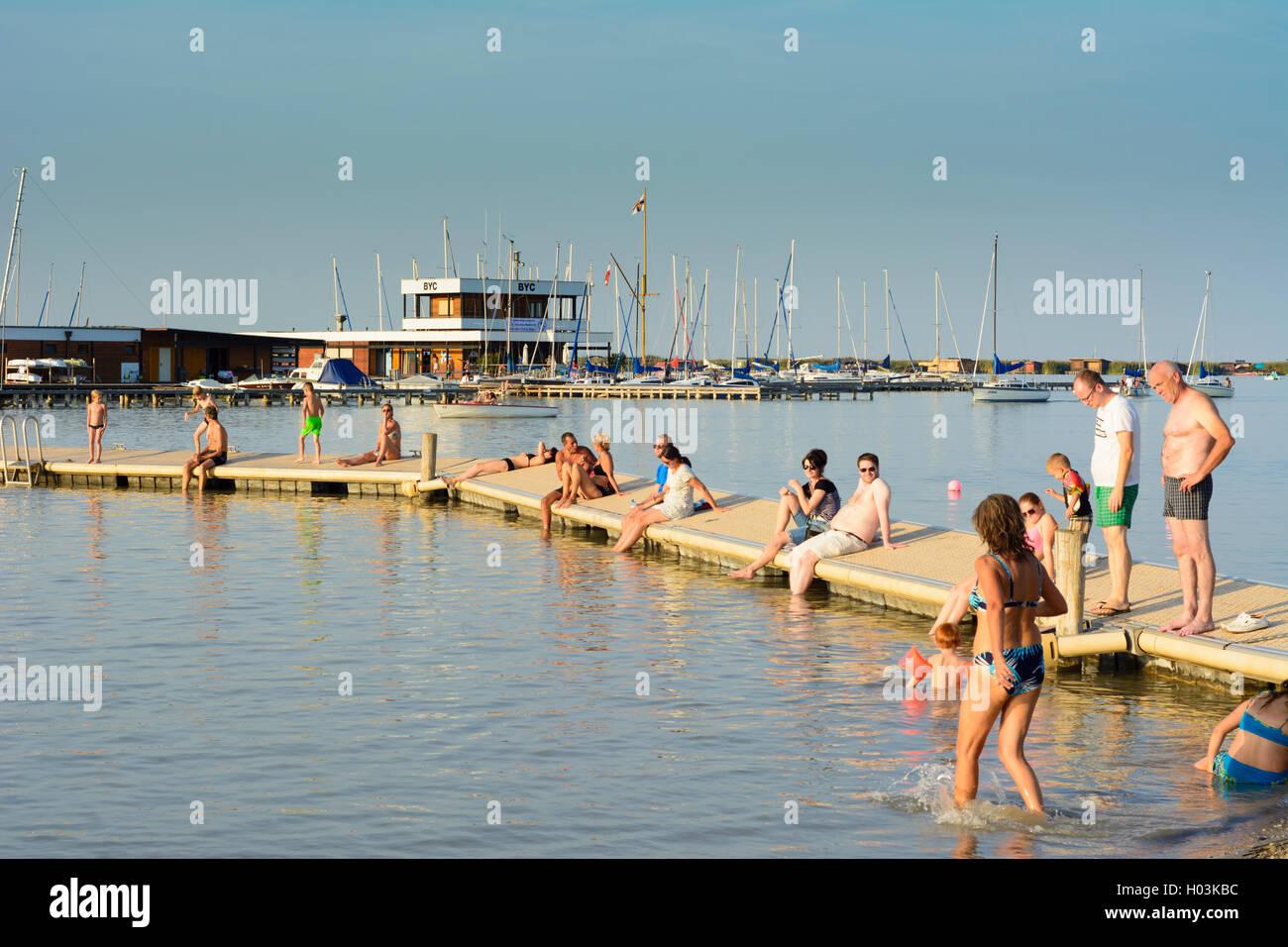 Rust neusiedlersee  Rust: Neusiedler See (Lake Neusiedl), lido beach, public bath ...