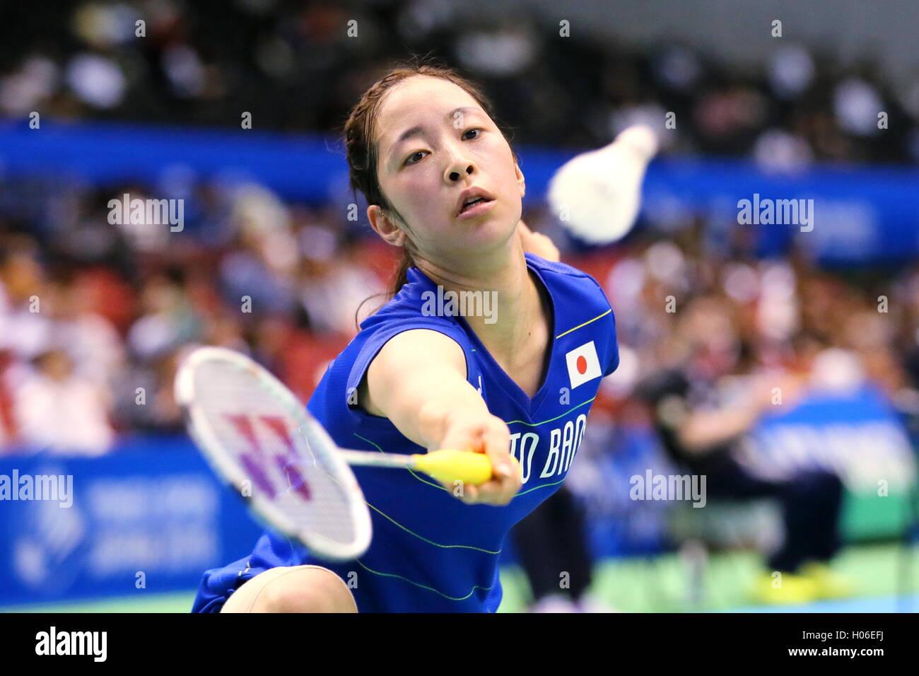 Tokyo Metropolitan Gymnasium Tokyo Japan 20th Sep 2016 Saena