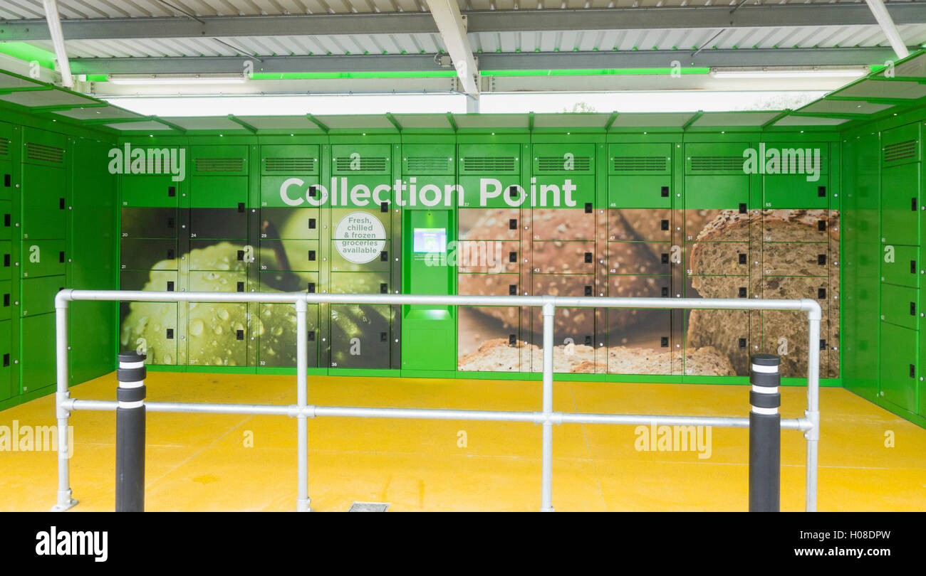 click and collect grocery collection point in asda store car park stock photo 120659025 alamy. Black Bedroom Furniture Sets. Home Design Ideas