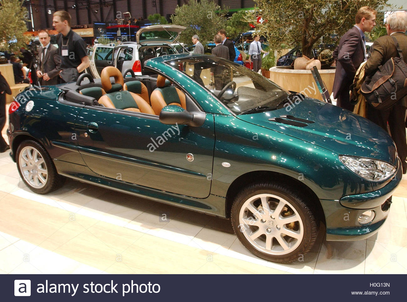 the new peugeot 206 cc roland garros is on display as a first world stock photo royalty free. Black Bedroom Furniture Sets. Home Design Ideas