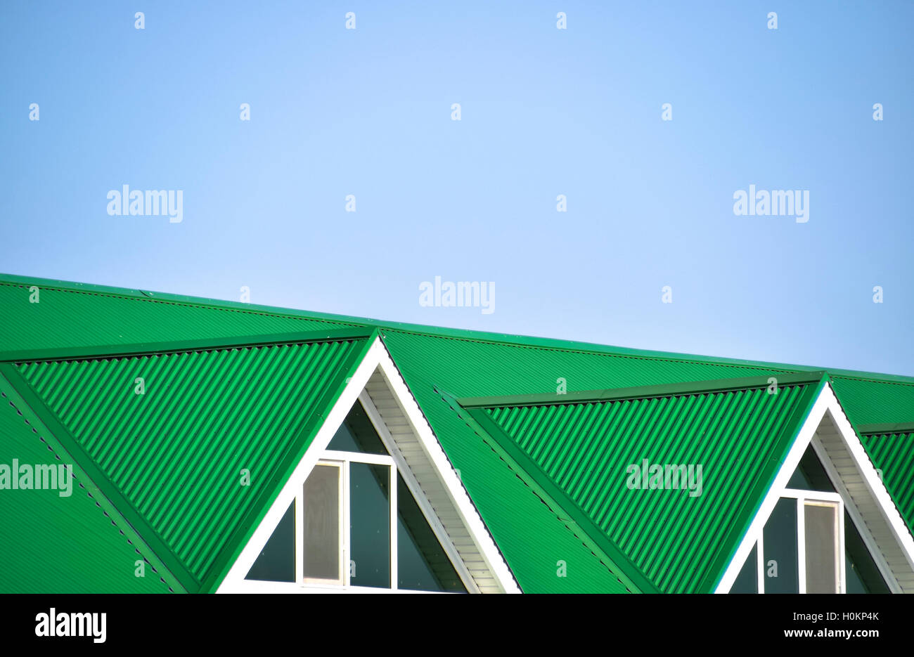 Corrugated Plastic Windows : The house with plastic windows and a green roof of