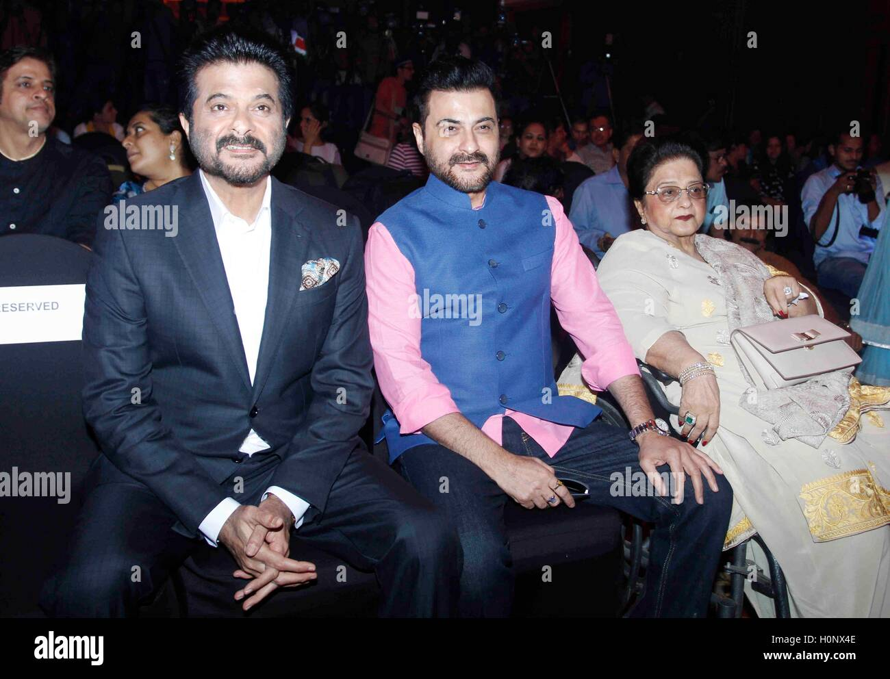 Bollywood actors Anil Kapoor and Sanjay Kapoor with their ...