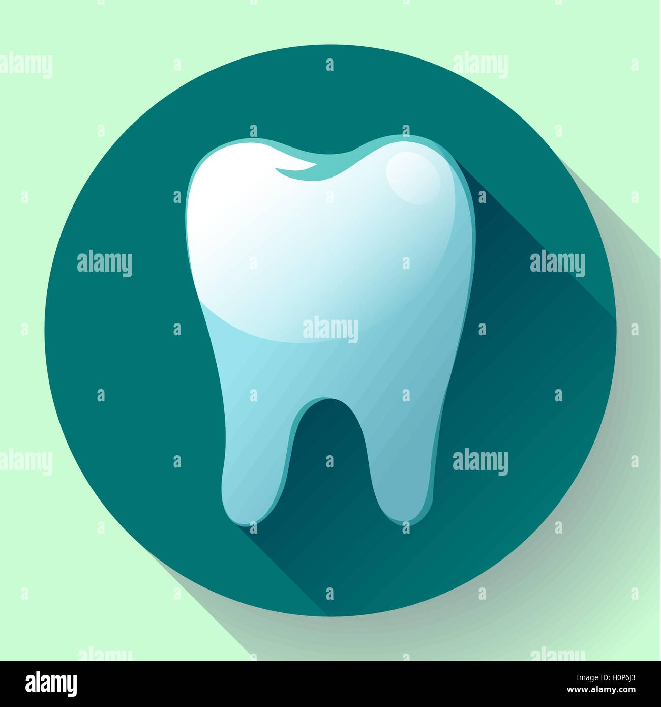 Flat tooth icon vector with long shadow dentist symbol suit for flat tooth icon vector with long shadow dentist symbol suit for app and ui biocorpaavc