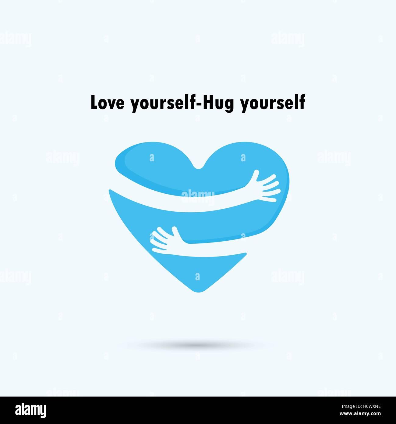 Hug yourself logolove yourself logolove and heart care logo hug yourself logolove yourself logolove and heart care logoheart shape and healthcare medical conceptctor illustration buycottarizona