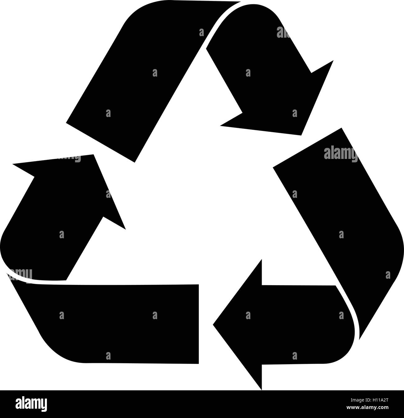 Recycle symbol black and white stock photos images alamy universal recycling symbol recycle isolated black sign accurate vector illustration stock buycottarizona Image collections
