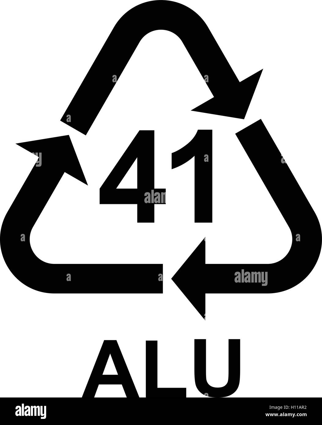 aluminium recycling symbol alu 41  metals recycling code recycle symbol vector download recycle symbol vector free download