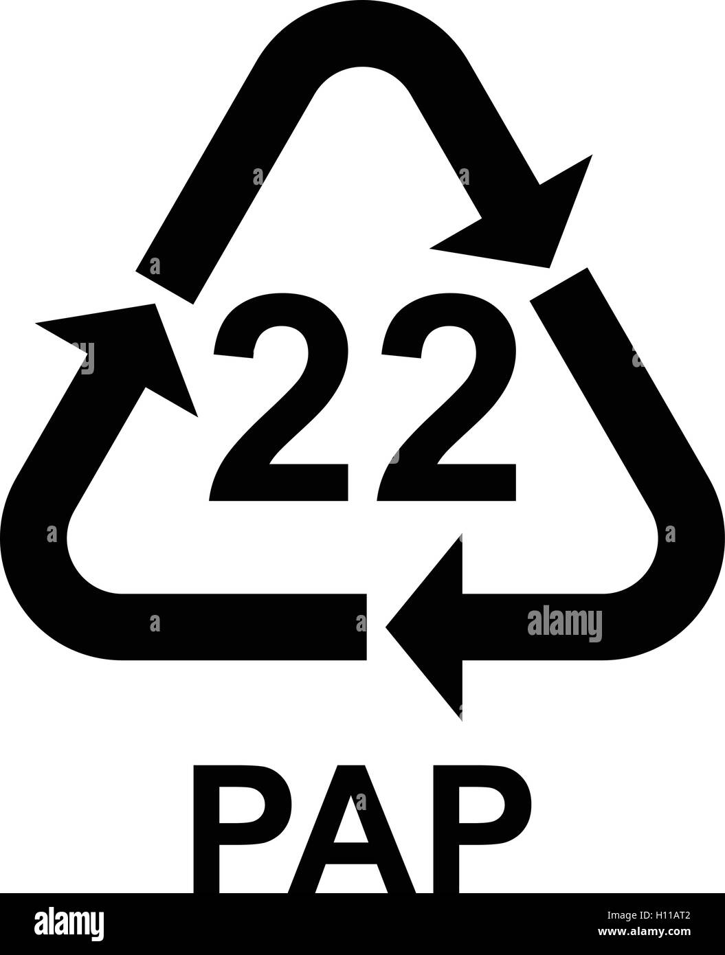 Paper recycling symbol pap 22 cardboard vector illustration stock paper recycling symbol pap 22 cardboard vector illustration buycottarizona