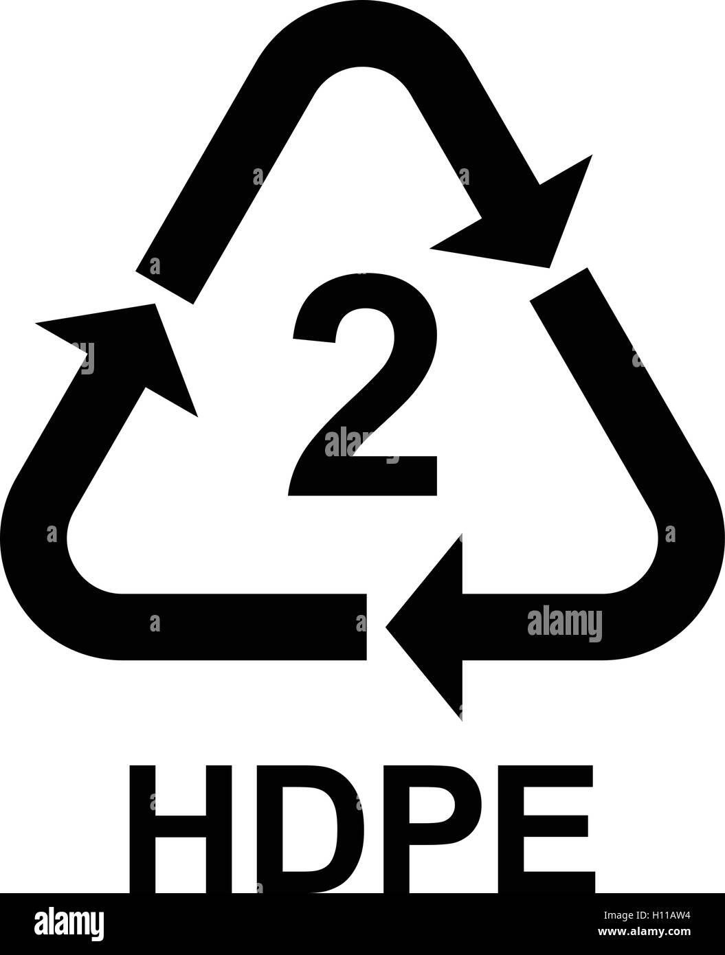 Mobius symbol black and white stock photos images alamy plastic recycling code hdpe 2 vector illustration buycottarizona Choice Image