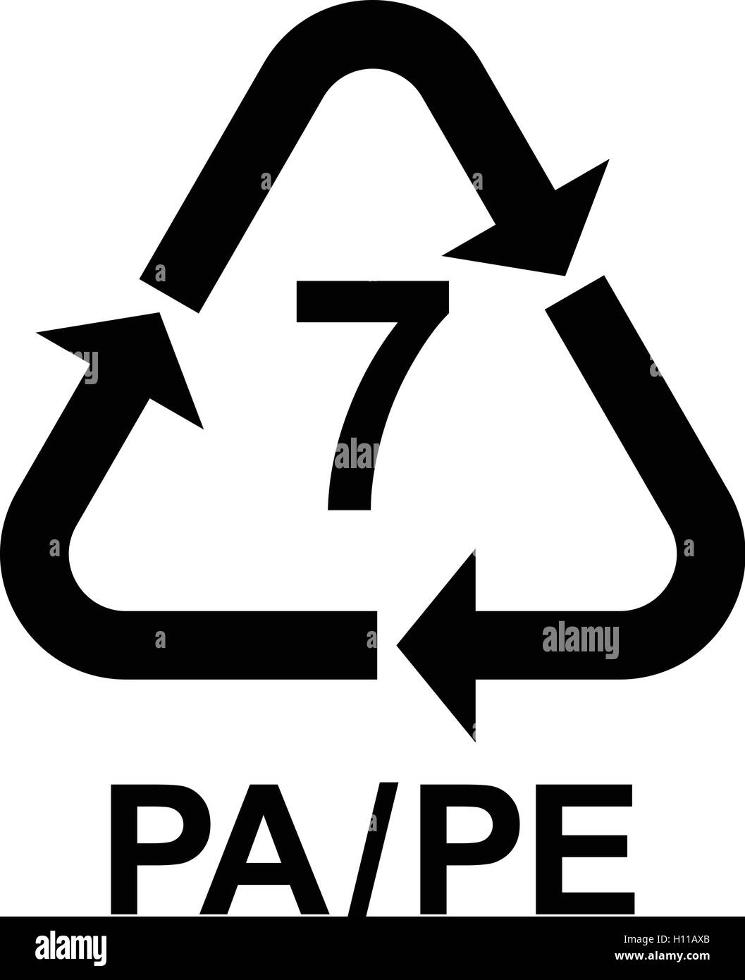 Mobius symbol black and white stock photos images alamy plastic recycling symbol pape 7 plastic recycling code pape 7 buycottarizona Image collections