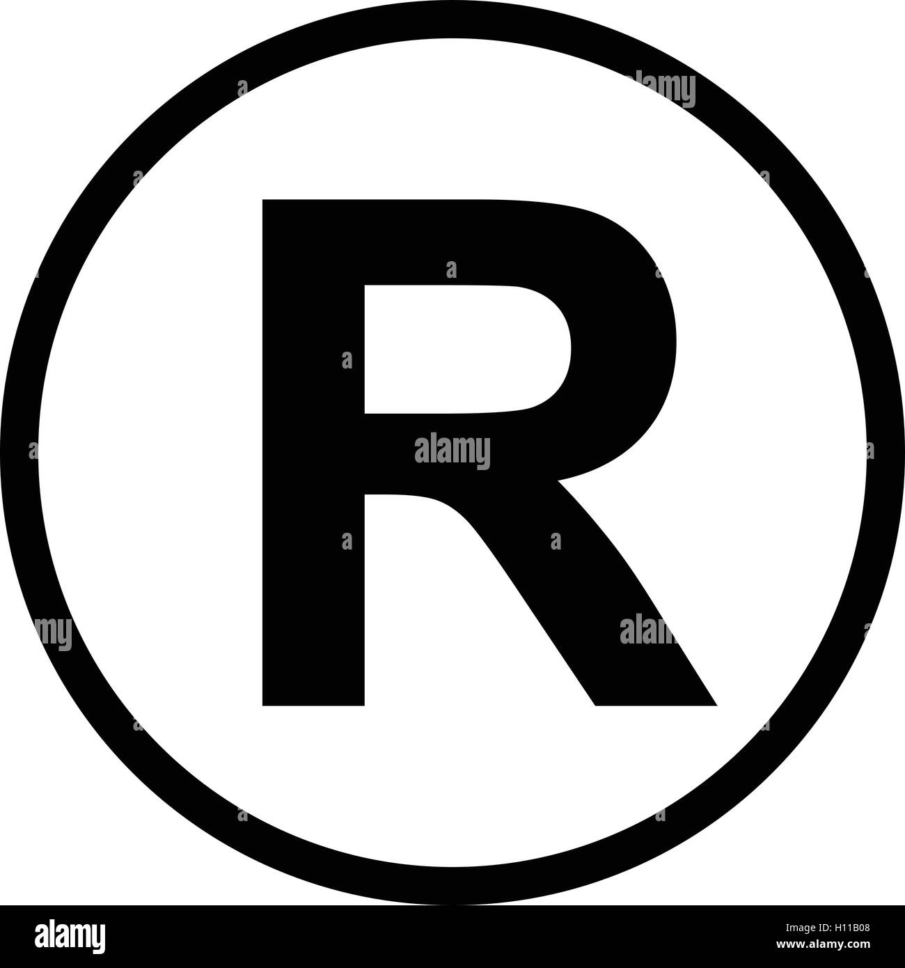 Registered letter stock photos registered letter stock images registered trademark symbol isolated black vector illustration stock image biocorpaavc