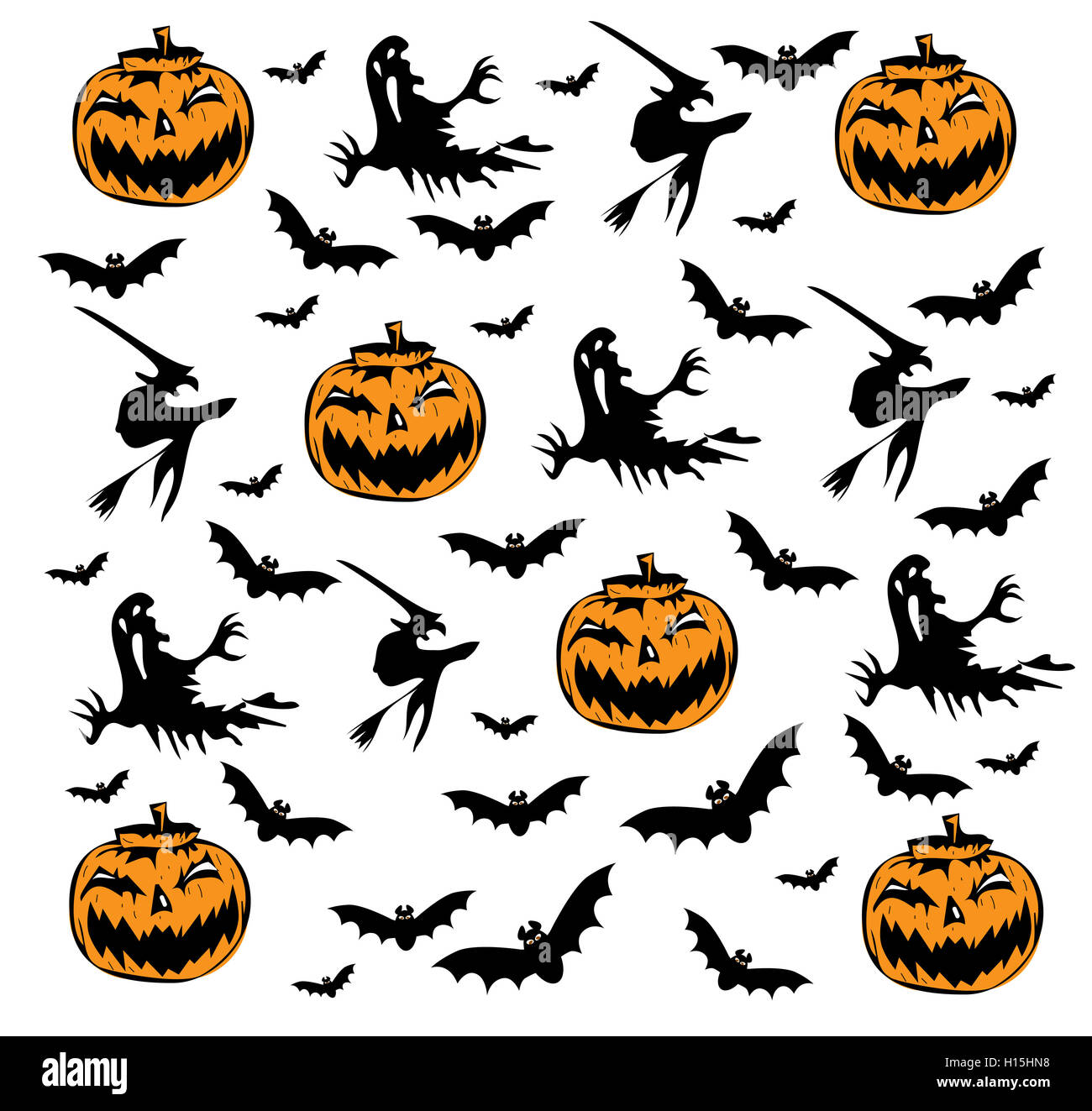 Happy Halloween background with pumpkin icons Stock Photo, Royalty ...