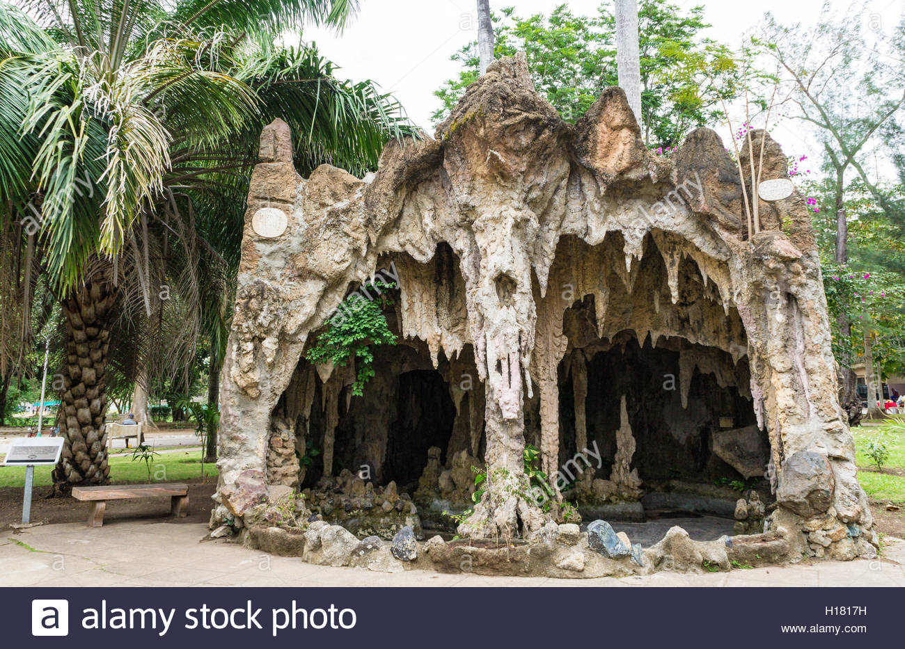 Small Man Made Cave : Old man made cave with scary looks at a park maguey is