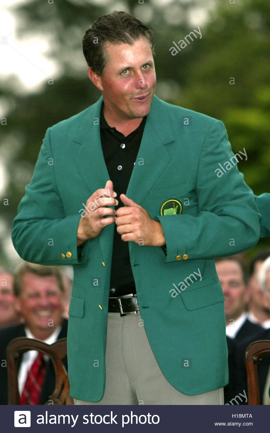 Phil Mickelson Wears The Masters Green Jacket After It Was