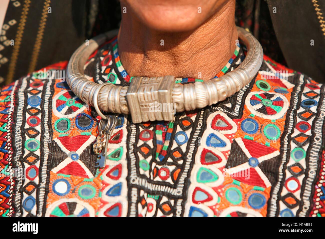 Fakirani Jat tribe, traditional silver jewelry, Kutch District ...