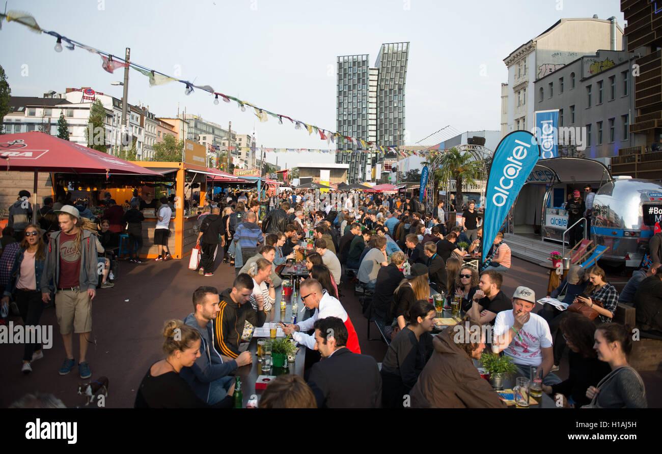 A J Hamburg visit the reeperbahn festival in hamburg germany 22 stock