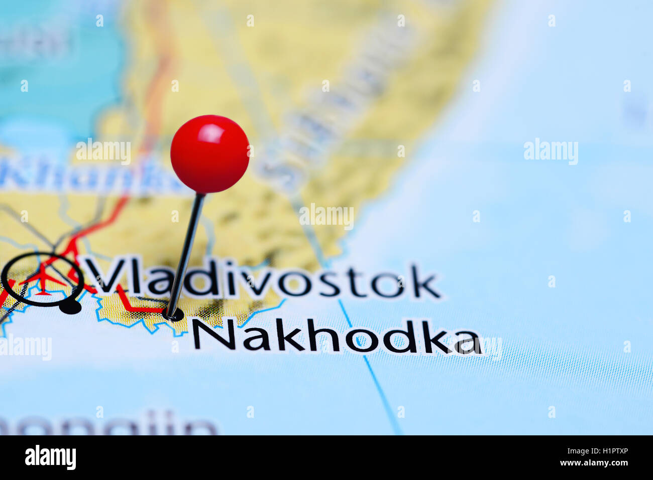 Nakhodka Pinned On A Map Of Russia Stock Photo Royalty Free Image - Nakhodka map