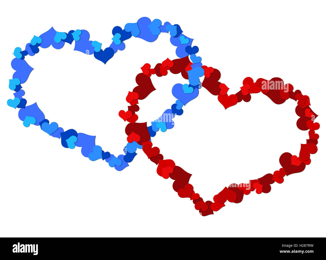 Two big heart made up of little hearts stock photo two big heart made up of little hearts buycottarizona Image collections