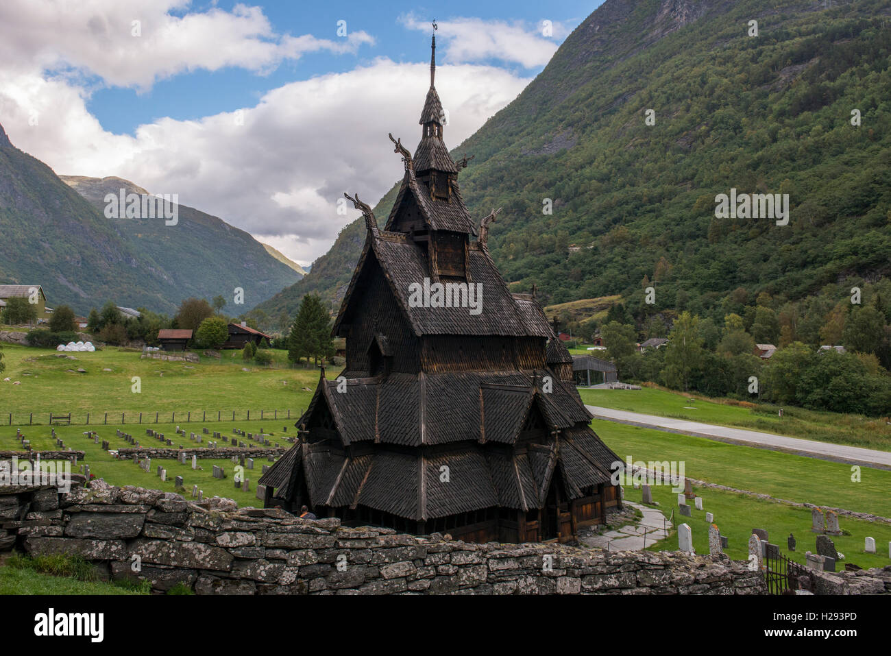 Borgund Stave Church Aka Laerdal Borgund Stavkirke. Built Without Any Nails  Or Metal In 1150.