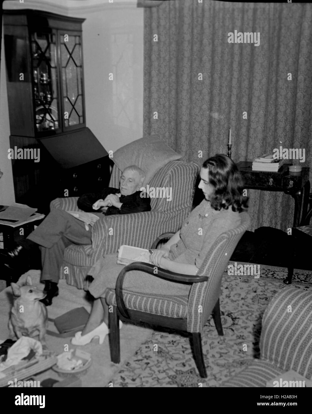 Living Room Social History England C1960 Photo By Tony Henshaw