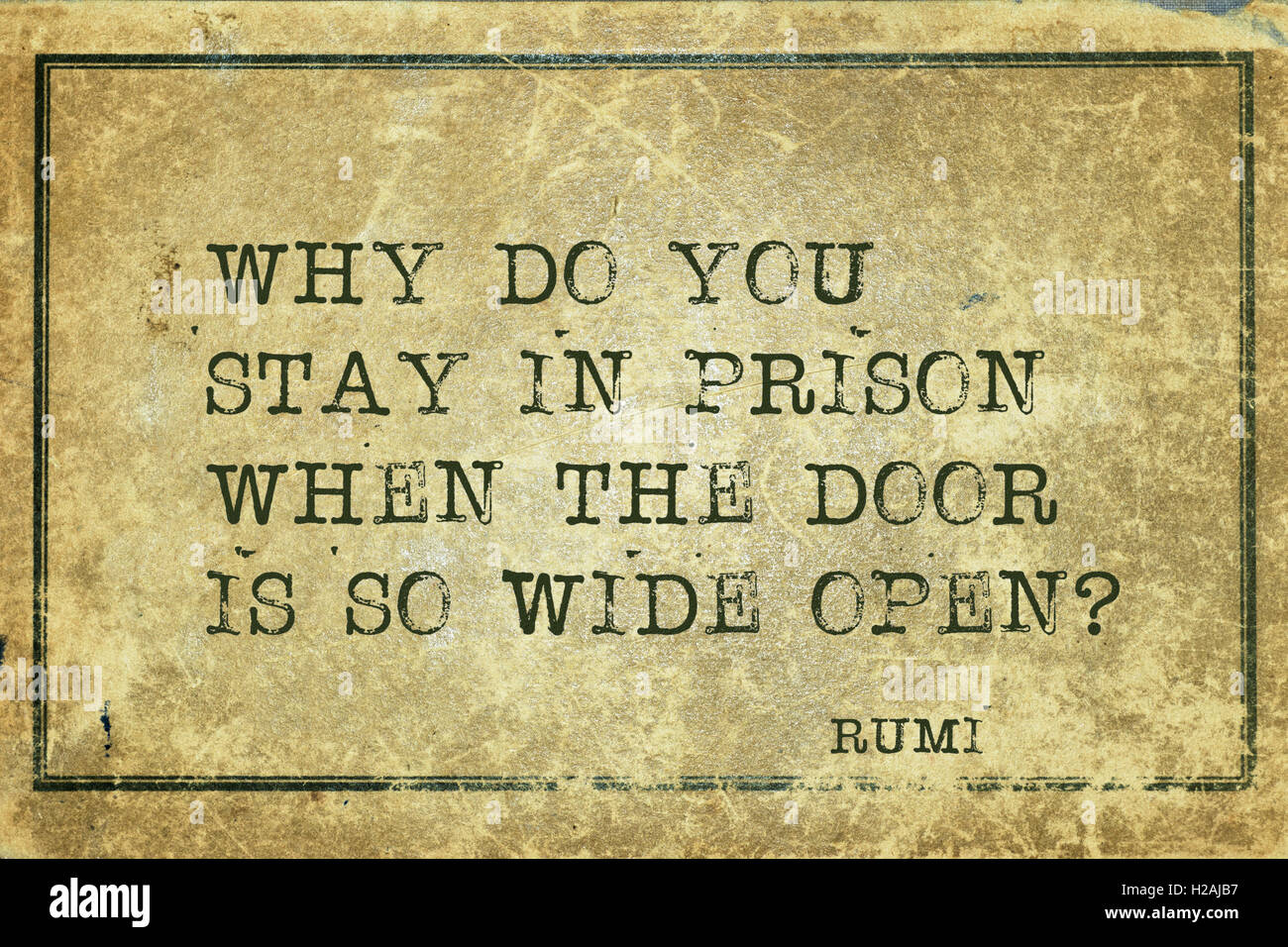 Rumi Quote Why Do You Stay In Prison  Ancient Persian Poet And Philosopher