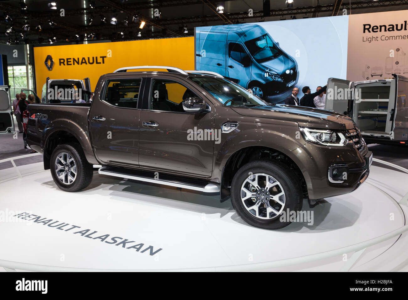 new renault alaskan 4x4 pickup truck at the iaa 2016 stock. Black Bedroom Furniture Sets. Home Design Ideas
