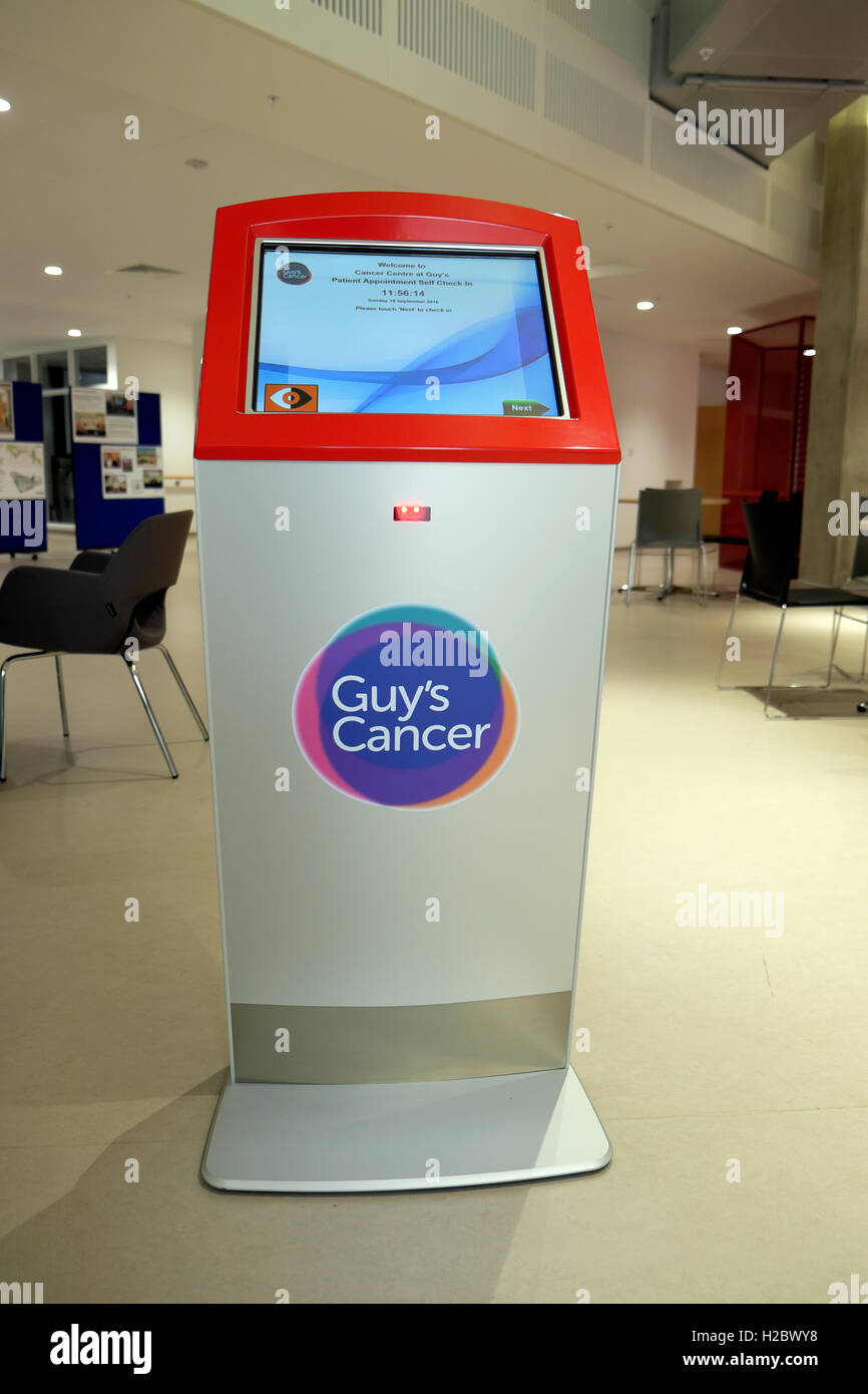 Hospital Check In Area : Digital self check in kiosk the reception area at guy s