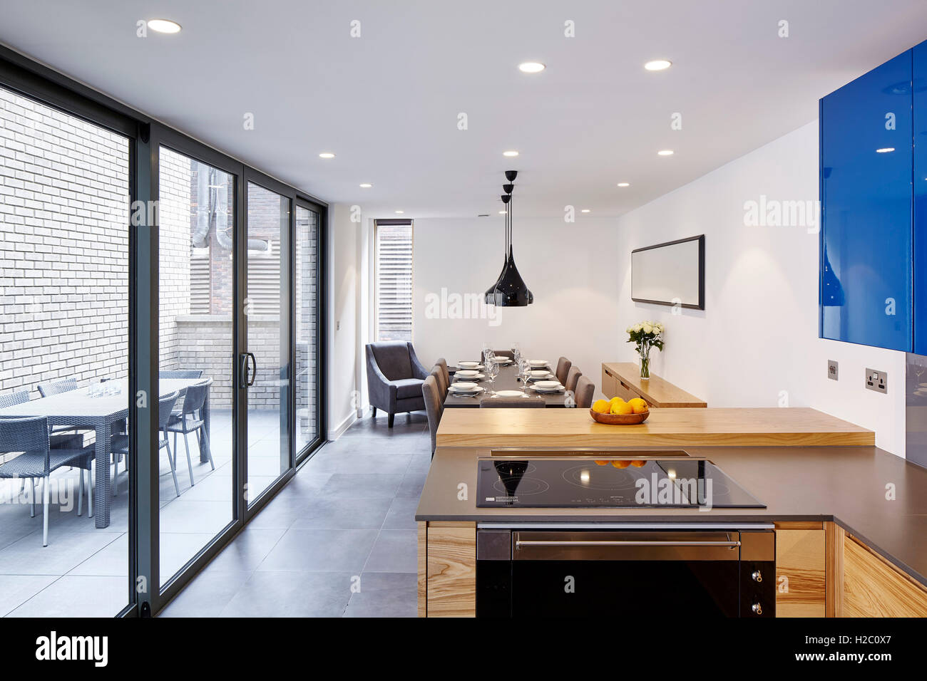 Kitchen which opens onto the terrace. Peel Place, London, United ...