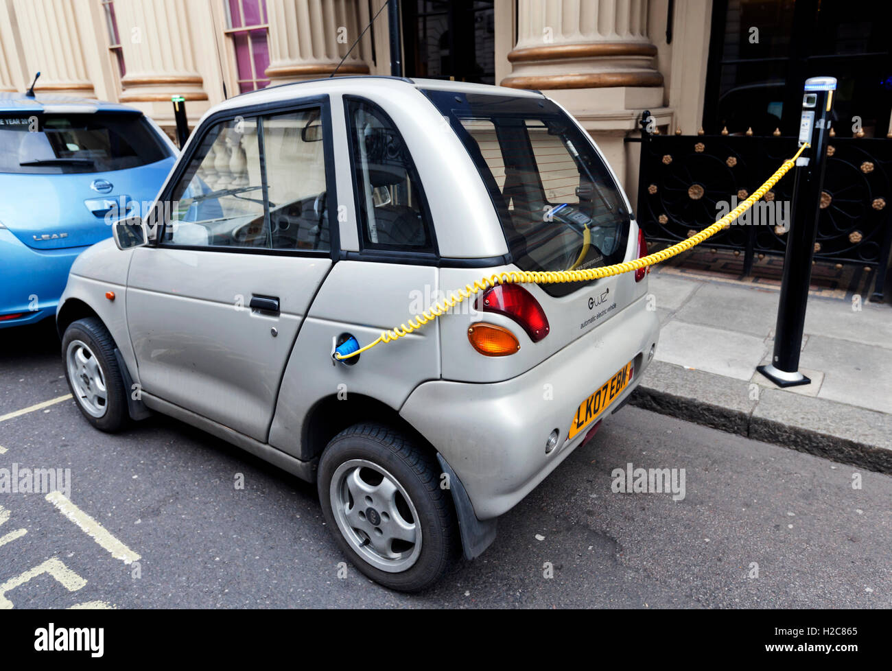 G Wiz Electric Car Recharges Battery Mayfair London England