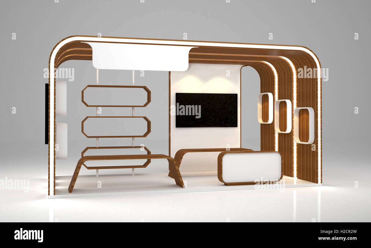 Modern Exhibition Booth Design : Blank modern booth exhibition design stock photo royalty