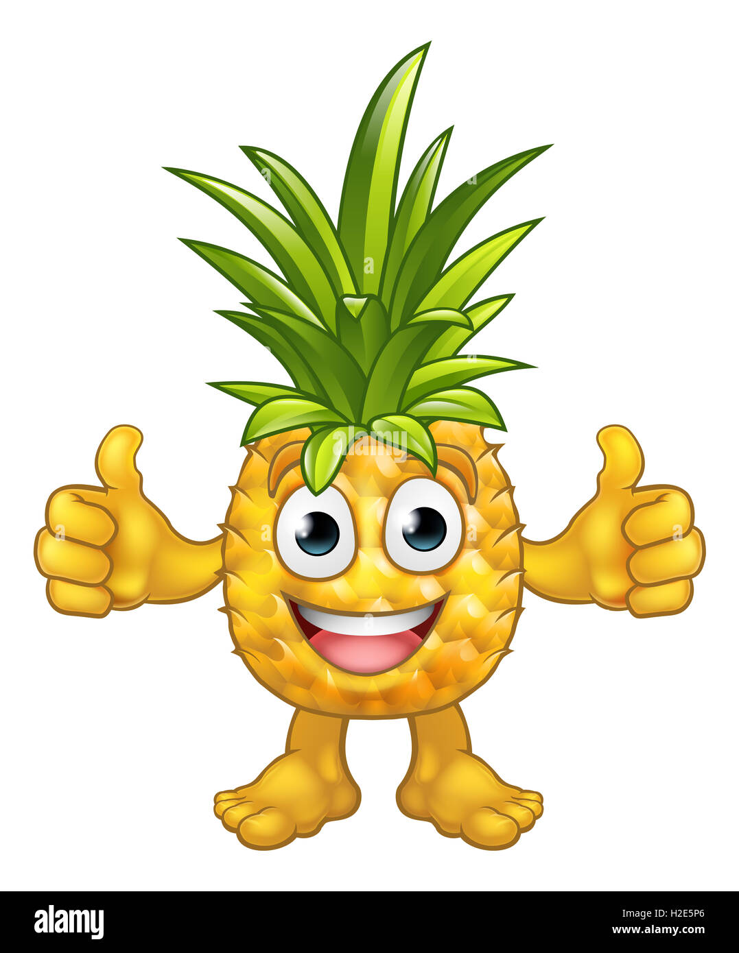 a fruit cartoon pineapple mascot character giving a thumbs up