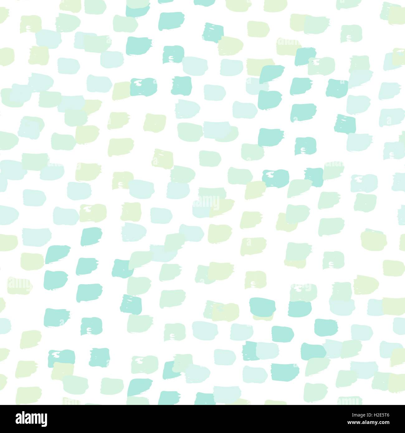 Hand Painted Brush Strokes In Light Blue Mint Green And Turquoise