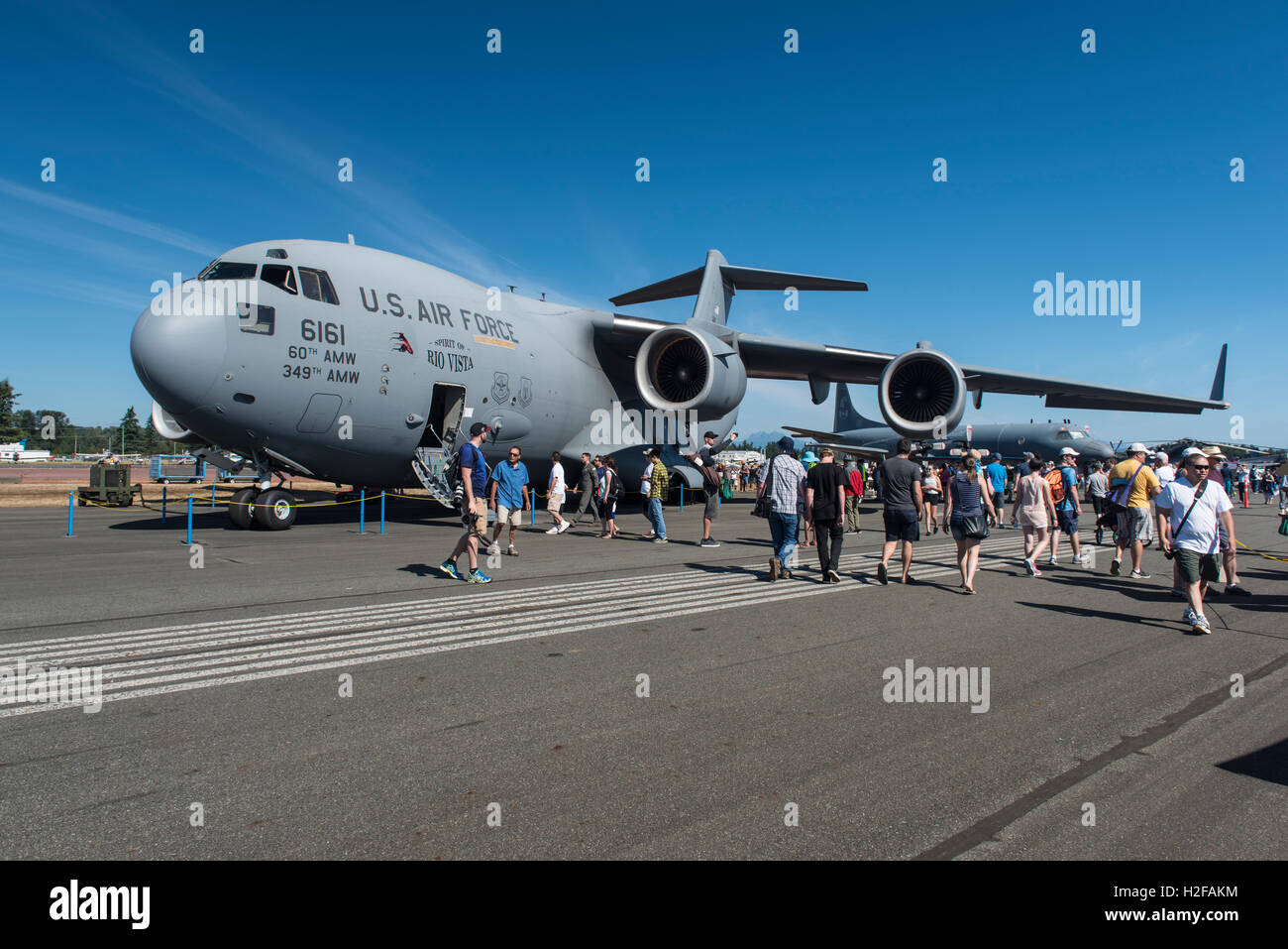 833rd aero squadron - Stock Photo Us Air Force Boeing C 17 Globemaster Lll On Display At The Abbotsford Airshow British Columbia