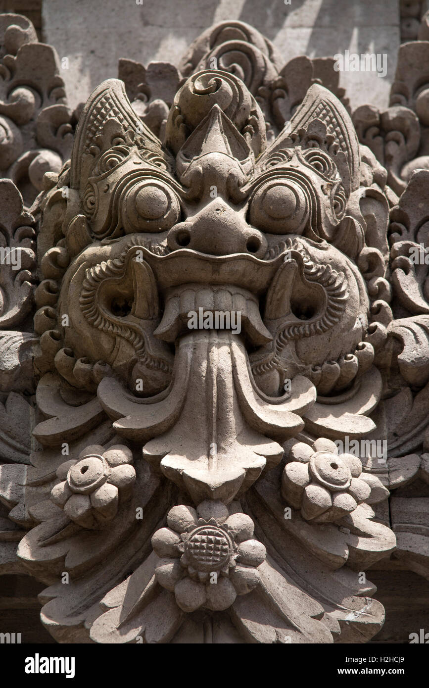 Indonesia bali ubud crafts carved stone barong head