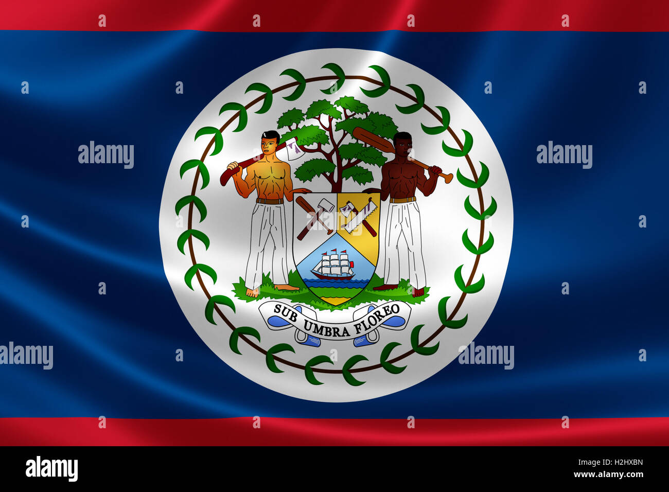 National flag of belize stock photos national flag of belize 3d rendering of the flag of belize on satin texture belize is a country on biocorpaavc Image collections