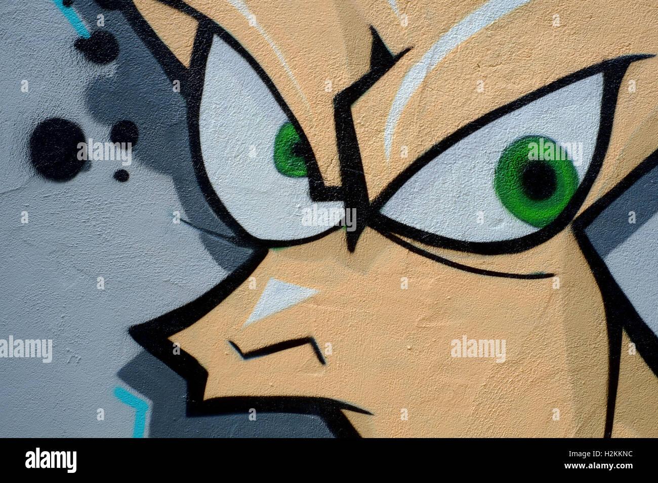 Graffiti wall art uk - Stock Photo Colourful Graffiti Wall Art Spray Painted In Urban Area England Uk