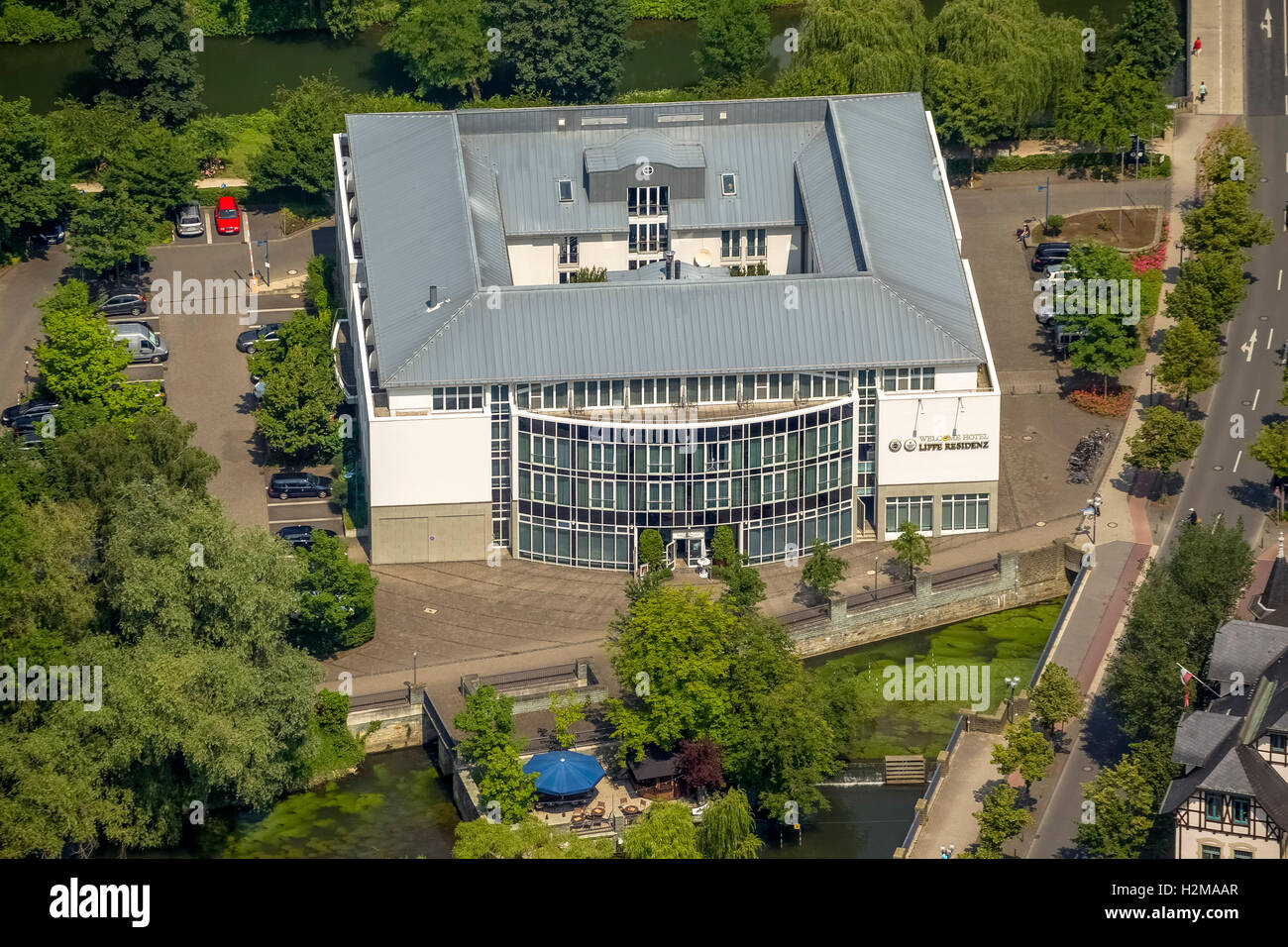 Aerial view wellcome hotel lippstadt lippstadt soest for Deck 8 design hotel soest