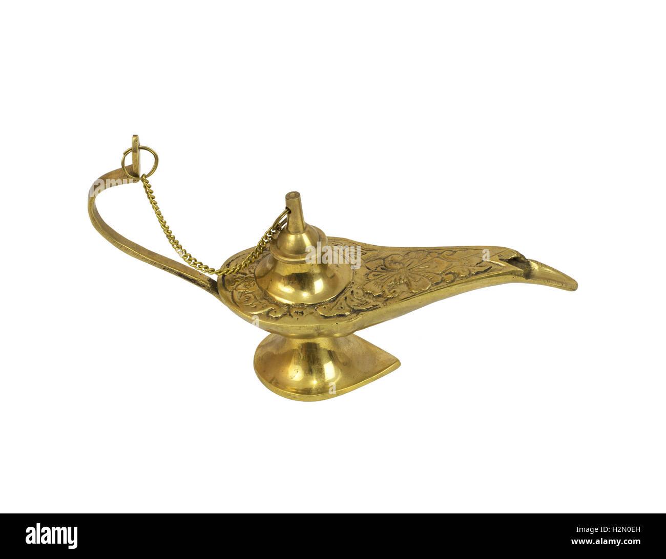 Genie lamp stock photos pictures royalty free genie - Gold Genie Lamp